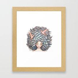 Claudette Head in the Clouds Framed Art Print