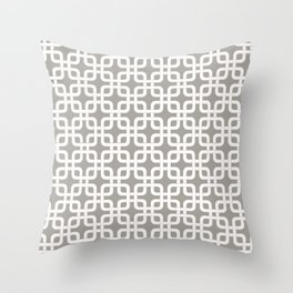 Mid-Century Modern Geometric Pattern, rounded corner squares interlocking Throw Pillow