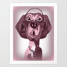 Doggie Singing The Blues Art Print