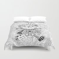 teddy bear Duvet Covers featuring Teddy Bear by Gribouilliz