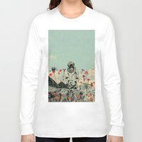 diver Long Sleeve T-shirts featuring Lonely Diver by Fajar P. Domingo