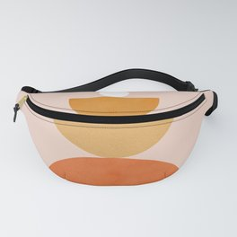 Abstraction Circles Balance Modern Minimalism 007 Fanny Pack