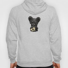 Black Panther Cub With Football Soccer Ball Hoody