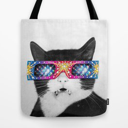 Laser Cat Tote Bag
