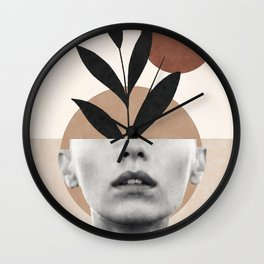 Abstract geometric floral beauty Wall Clock