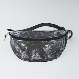 Panther watercolor painting predator animals puma Fanny Pack