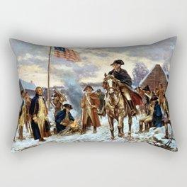 Washington At Valley Forge Rectangular Pillow