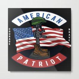 American Patriot Stars Metal Print