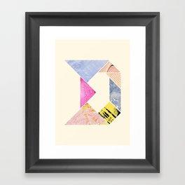 Tangram Alphabet - D Framed Art Print