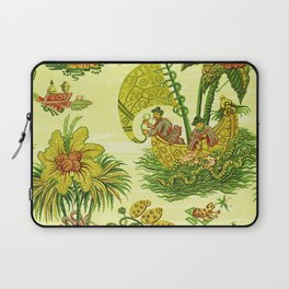 Chartreuse Chinoiserie Laptop Sleeve
