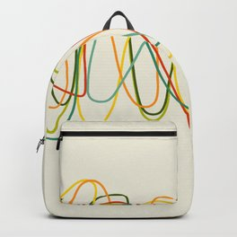Abstract Minimal Retro Lines Backpack