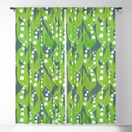 Lily of the Valley Pattern Blackout Curtain