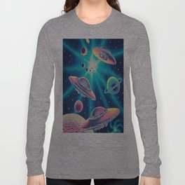 Galaxy Aliens Long Sleeve T-shirt