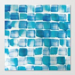 Ocean blue blocks Canvas Print