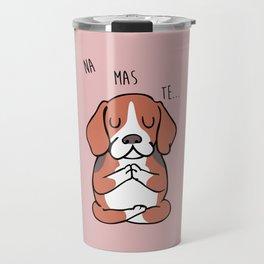 NAMASTE Beagle Travel Mug