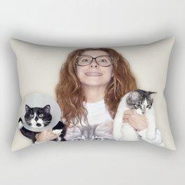 Crazy Cat Lady Photograph Rectangular Pillow