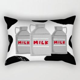 caw milk cute pattern Rectangular Pillow