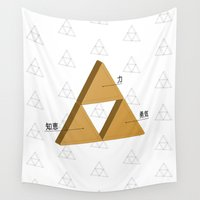 triforce Wall Tapestries featuring Triforce Composition by Ines B.