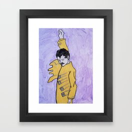 Freddy mercury Framed Art Print