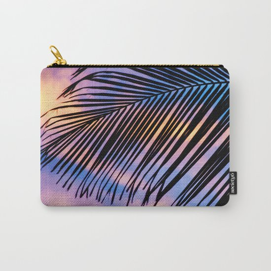 SUNSET PALM Carry-All Pouch