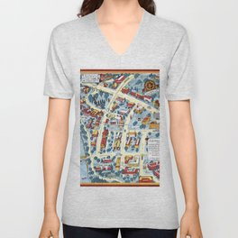 MINNEAPOLIS University map MINNESOTA dorm decor Unisex V-Neck