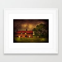 farm Framed Art Prints featuring Farm by Svetlana Sewell