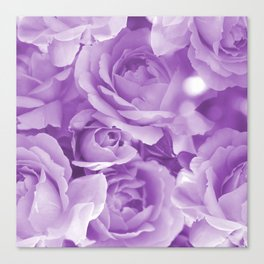 Violet Rose Bouquet For You - Valentine's Day #decor #society6 #homedecor Canvas Print