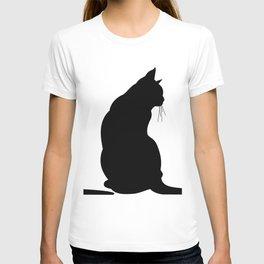 Cat's silhouette T-shirt