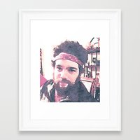jon contino Framed Art Prints featuring Jon by Jose Luis