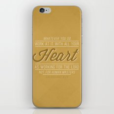 Colossians 3:23 iPhone & iPod Skin