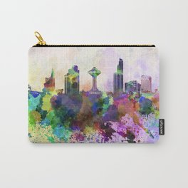 Khobar skyline in watercolor background Carry-All Pouch