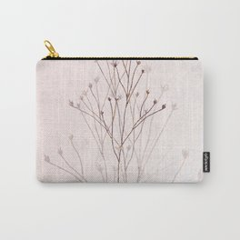 Rose Gold Twigs Carry-All Pouch