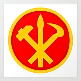 Workers Party of Korea emblem symbol Art Print