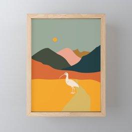 Ibis in the mountains Framed Mini Art Print