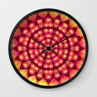 hippie Wall Clocks featuring Hippie Star by NatalieCatLee