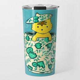 Dinnerware sets - Kitten in a teapot Travel Mug