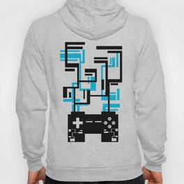 8-BIT JOYSTICK (BLUE AND BLACK) Hoody