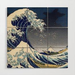 Great Wave: Kanagawa Night Wood Wall Art
