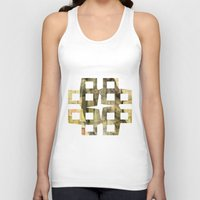 lotus flower Tank Tops featuring Lotus by Aloke Design