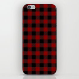 Red and Black Plaid iPhone Skin