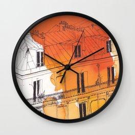 Paris watercolour Wall Clock
