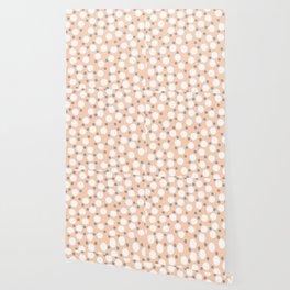 Minimalist neutral bubble illustration digital pattern Wallpaper