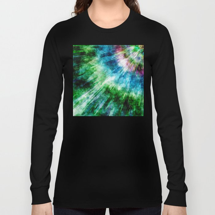 Abstract Grunge Tie Dye Long Sleeve T-shirt