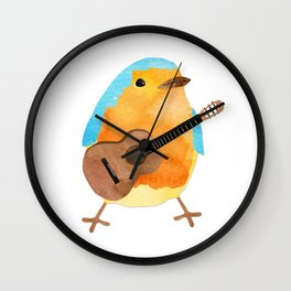 music bird Wall Clock