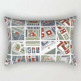 Urban fragments II of‪ NewYork‬, ‎Paris‬, London‬, Berlin‬, Rome‬ and Seville Rectangular Pillow