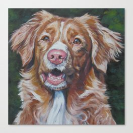 Nova Scotia Duck Tolling Retriever dog portrait from an original painting by L.A.Shepard Canvas Print