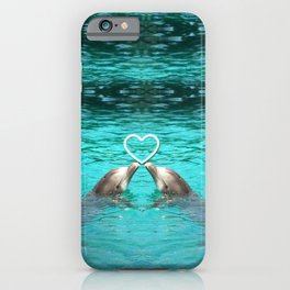 Dolphin Love 2 iPhone Case