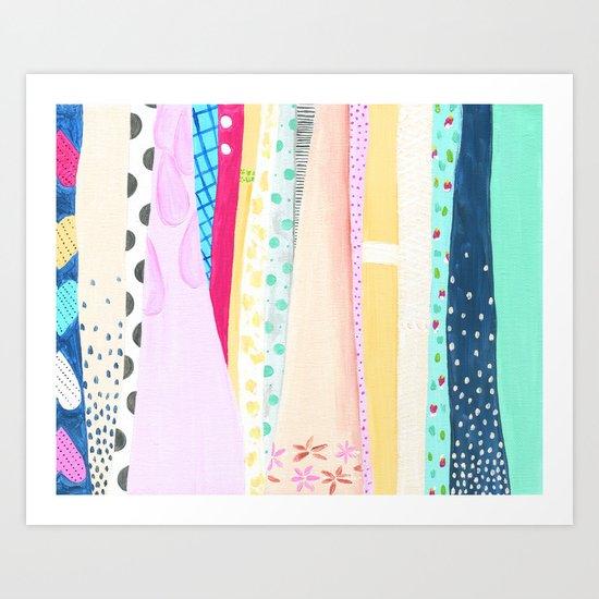 Dresses Art Print