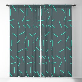 Abstract green lines simplistic pattern Blackout Curtain