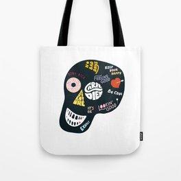 Inspiring Skull Tote Bag